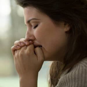 woman deciding on divorce